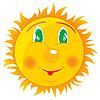 Векторный клипарт: веселое солнце