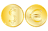 Vector clipart: Two coins