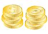 Векторный клипарт: Монеты позолотой
