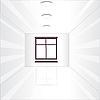Vector clipart: Empty room