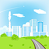 Vector clipart: Road in city