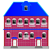 Vector clipart: Big two-story mansion