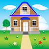 Vector clipart: House on nature