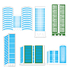 Vector clipart: Town buildings