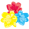 Vector clipart: Three flowers