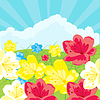 Vector clipart: Glade with flower