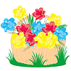 Vector clipart: Basket with field flower