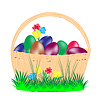 Basket with peaster egg