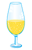 Vector clipart: Drink in goblet