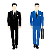 Vector clipart: Silhouettes of people in business suit