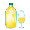 Vector clipart: Carbonated water in plastic bottle