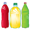 Vector clipart: Bottles with carbonated water