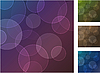 Set of four abstract backgrounds with circles