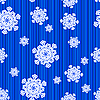 Vector clipart: Snowflake seamless pattern