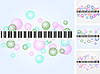 Vector clipart: Music background set
