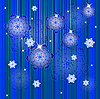 Vector clipart: Winter christmas background with snowflakes
