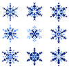 Set of isolated snowflakes | Stock Vector Graphics