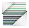 Abstract striped card
