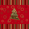 Vector clipart: Christmas striped card