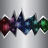 霓虹灯和金属背景 | 向量插图