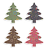 Vector clipart: retro christmas trees