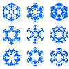 Set of blue snowflakes | Stock Vector Graphics