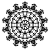 Vector clipart: Black and white circle ornament