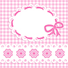 Vector clipart: Baby girl card