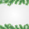 Vector clipart: Frame with Christmas tree branch