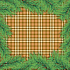 Vector clipart: Scottish background with Christmas tree branch