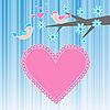 Две влюбленные птицы