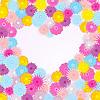 Векторный клипарт: яркий фон с цветами и сердцем