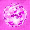 Векторный клипарт: дискошар из сердечек