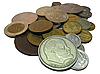 Russians coins | Stock Foto