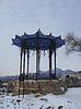 中国乔木。北高加索地区的地标。冬季皮亚季戈尔斯克 | 免版税照片