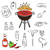 Vector clipart: Barbecue Set