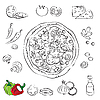 Vector clipart: Pizza