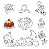 ID 3059520 | Thanksgiving-Set | Stock Vektorgrafik | CLIPARTO