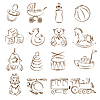 Vector clipart: Baby Toys Set