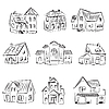 Vector clipart: Set of Houses