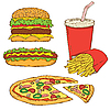 Set of Fast Food | Stock Vector Graphics