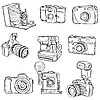 Векторный клипарт: фотокамеры