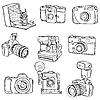 Vector clipart: Set of PhotoCameras