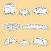 Vector clipart: Set of Bread