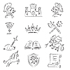 Vector clipart: Medieval Set
