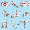 Vector clipart: Medicine Set