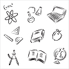 Vector clipart: school set