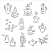 Vector clipart: Coffee and Tea Set
