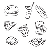 Vector clipart: Fast Food