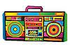 Vector clipart: Funny Boom Box